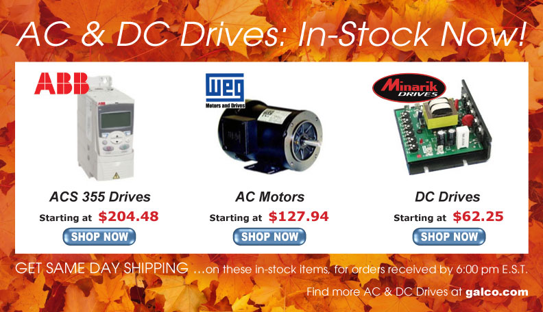 AC & DC Drives and Motors - In Stock