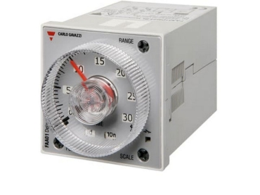 Sample image: FAA01DW24 TIMER 48x48mm HOUSING 11 PIN TIMING RANGE 0.05 SECONDS TO 300 HOURS, 4 FUNCTION