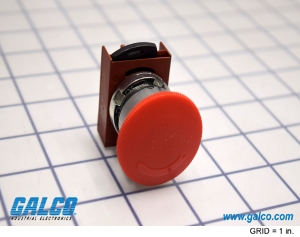 - 104PBL11R3S6 Illum Push Button GE 30mm Red General Electric 1NO//1NC