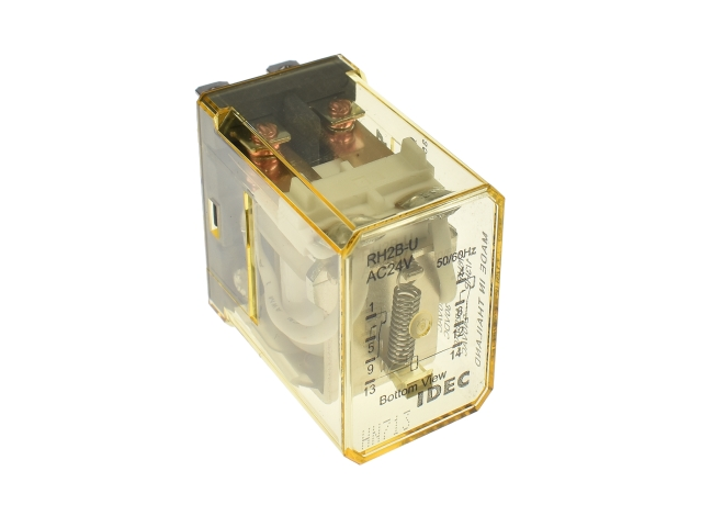 rh2b u ac24_p rh2b u ac24 idec general purpose relays galco industrial Basic Electrical Wiring Diagrams at bakdesigns.co