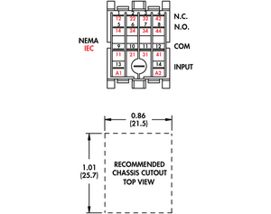 din rail mount relay surface mount relays wiring diagram