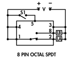 Schneider Electric 8 Pin Relay Diagram on 11 pin relay base layout