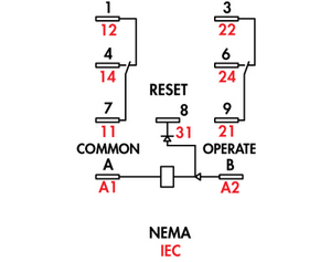 the diagram of its pins is here: 785 latching relay