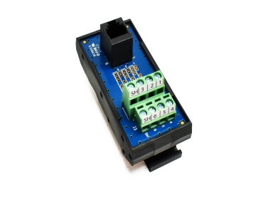 Registered Jack DIN Rail Interface Modules