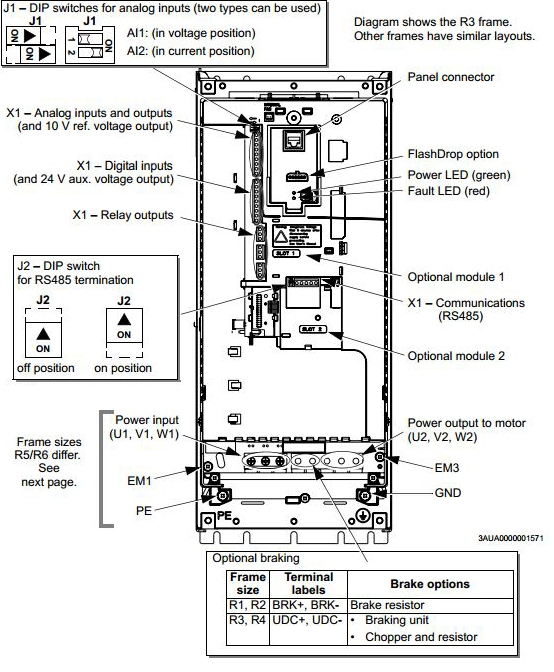 Driv ac acs550 on distributor wiring diagram