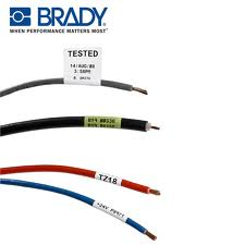 Group of wires with Brady labels