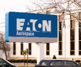 Sign outside of Eaton Aerospace Division