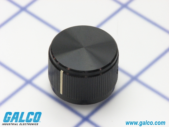 0.250 Shaft Diameter Black 0.750 Diameter 0.250 Shaft Diameter Inc. 0.750 Diameter Gloss Finish NTE Electronics 504-0008 Series DD Machined Aluminum Knob with Position Line