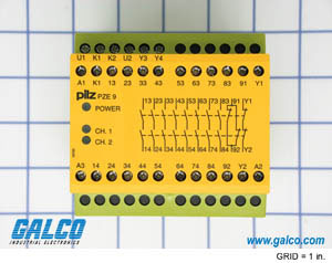 galco industrial electronics pilz x series pnoz safety relay