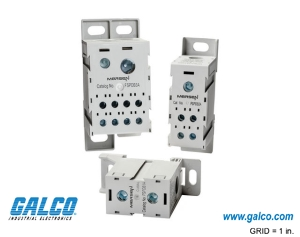 Sample image: FSPDB2C DISTRIBUTION BLOCK, 1-P, 175A, DIN lINE: (1)2/0-14AWG, LOAD: (4)2-14AWG FOR USE WITH COPPER WIRE ONLY