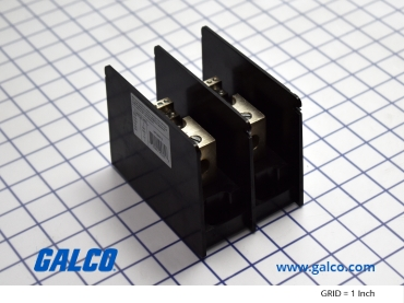 Sample image: MPDB66112 Distribution Block, 2-P, 175A, Bx/Bx Line: (1)2/0-14AWG Coper Box Lug, Load: (12)14-10AWG Copper Box Lug