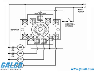 alt-100-1-sw - symcom - alternating relays | galco ... 11 flat pin relay wiring diagram