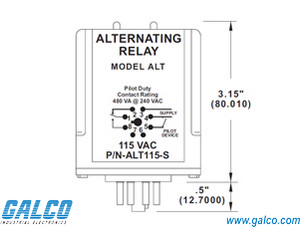 ALT115SSW  Sym  Alternating Relays   Galco