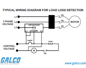 current monitor wiring diagram lsr-115 - symcom - protection relays | galco industrial ...