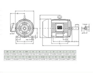 5 Hp 213t Frame Electric Motor Wiring Diagram